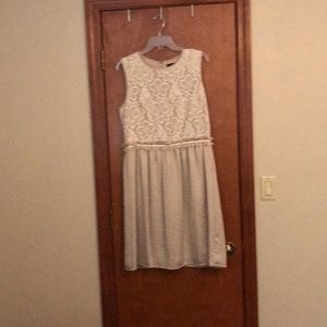 Champagne and off white lace dress